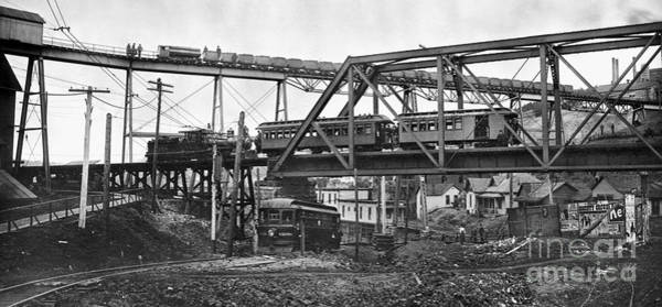 Photograph - Chicago: Railroads, 1906 by Granger