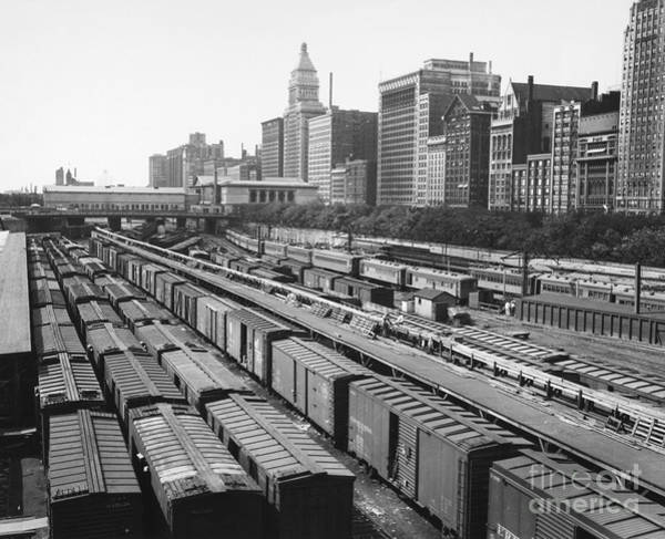 Photograph - Chicago: Railyard, C1960s by Granger