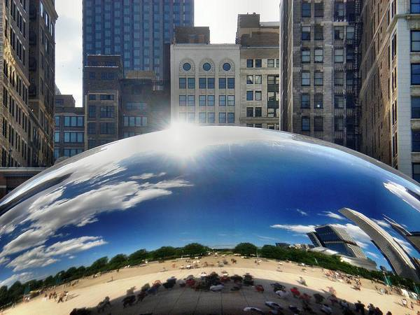 Millenium Photograph - Chicago Reflection by Bill Noonan