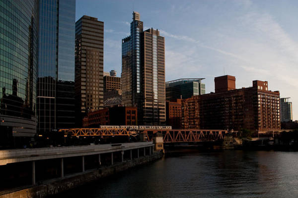 Chicago River And Downtown Art Print