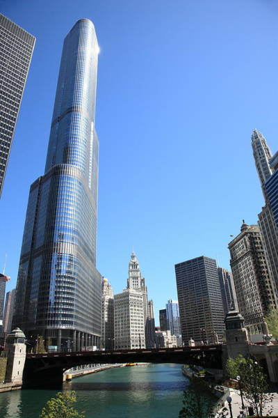 Photograph - Chicago River And Skyline by Frank Romeo