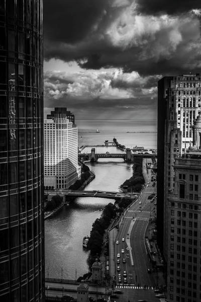 Midwest Photograph - Chicago River by Andrew Soundarajan