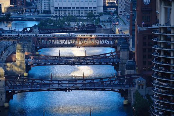 Chicago River Photograph - Chicago River First Light by Steve Gadomski