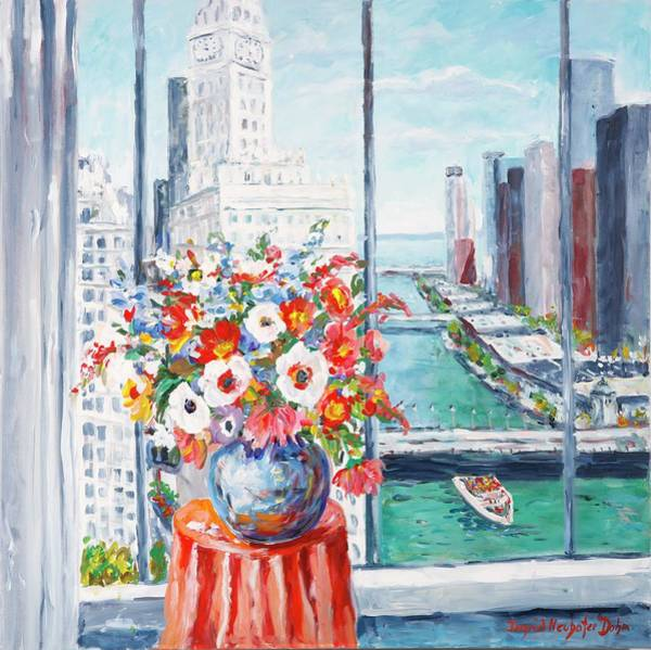 Painting - Chicago River by Ingrid Dohm