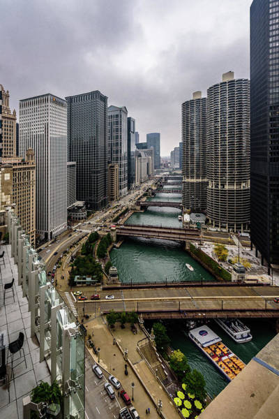 Photograph - Chicago River by Randy Scherkenbach