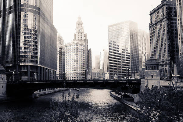 Chicago River Photograph - Chicago River Skyline by Paul Velgos
