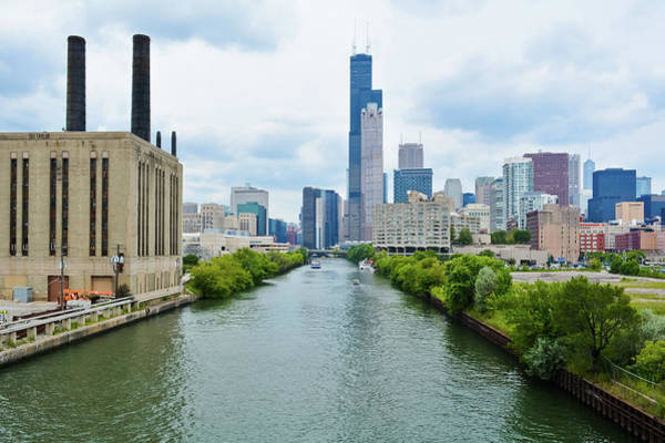 Photograph - Chicago River South Loop by Kyle Hanson