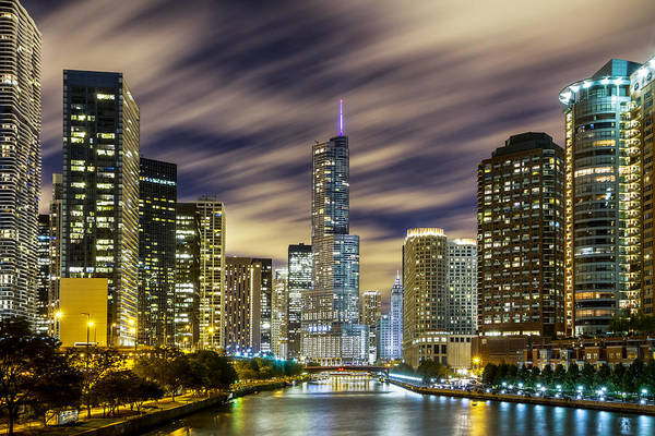 Photograph - Chicago River To Trump Tower by Ron Pate
