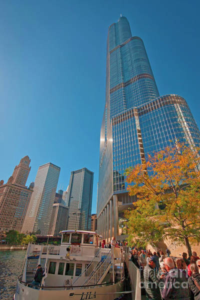 Photograph - Chicago River Trump Tower Beautiful Chicago Buildings  by Tom Jelen