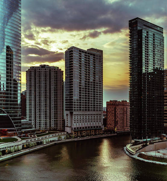 Photograph - Chicago River's Bend by Nisah Cheatham