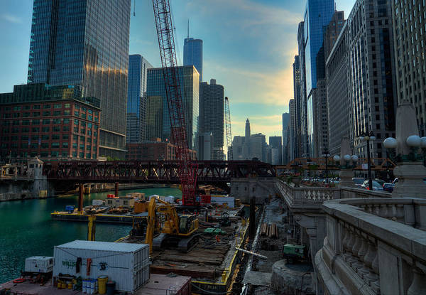 Photograph - Chicago Riverwalk Construction I by Nisah Cheatham