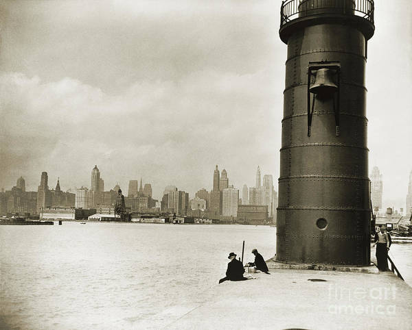 Photograph - Chicago Skyline, 1930 by Granger