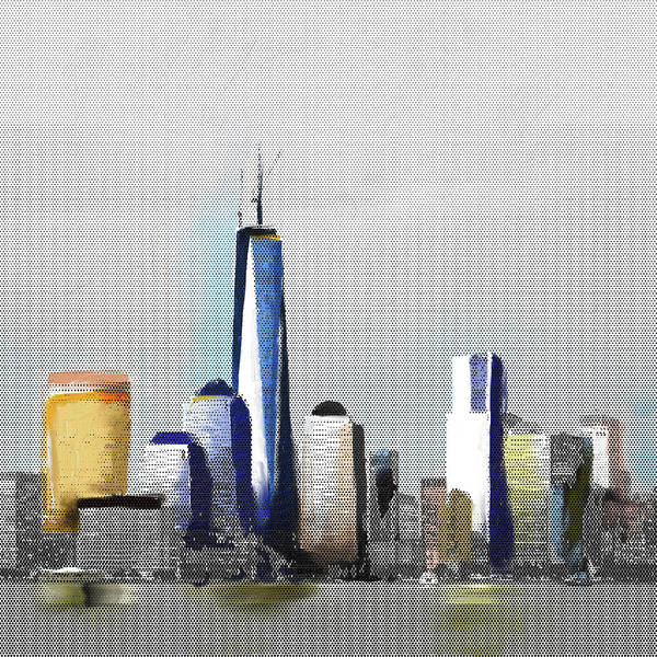 Wall Art - Painting - Chicago Skyline 651 1 by Mawra Tahreem