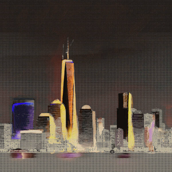 Wall Art - Painting - Chicago Skyline 651 3 by Mawra Tahreem