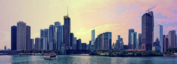 Photograph - Chicago Skyline And Chicago River by Michelle Calkins