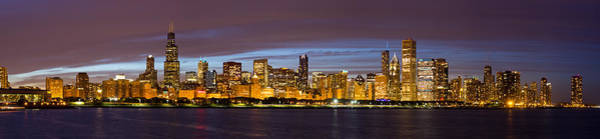 Chicago Skyline At Dusk Art Print by Twenty Two North Photography