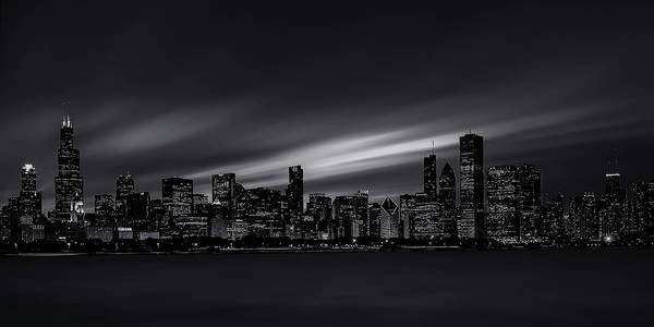 Wall Art - Photograph - Chicago Skyline At Night by Andrew Soundarajan