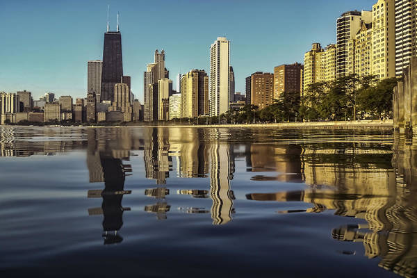 Photograph - Chicago Skyline From North Avenue Partiallysubmerged by Sven Brogren