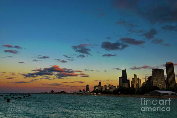 Photograph - Chicago Skyline At Sunset by Dawid Swierczek