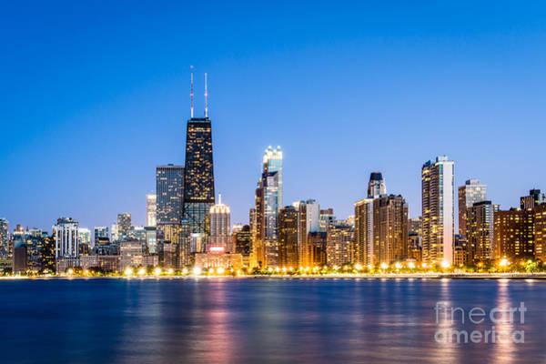 Chicago Skyline At Twilight Art Print