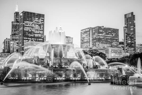 2012 Photograph - Chicago Skyline Black And White Photography by Paul Velgos