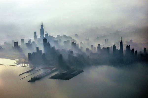 Painting - Chicago Skyline Clouds by Christopher Arndt