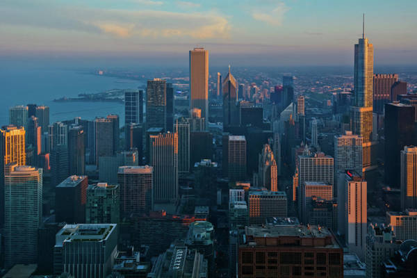 Photograph - Chicago Skyline Evening by Kyle Hanson