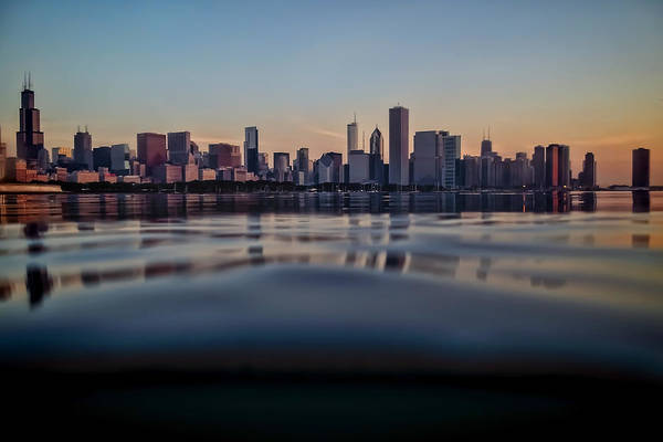 Photograph - Chicago Skyline From Half Underwater by Sven Brogren