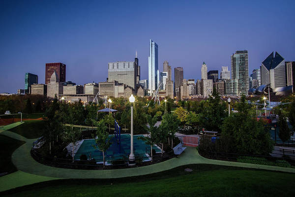 Photograph - Chicago Skyline From Maggie Daley Park by Sven Brogren