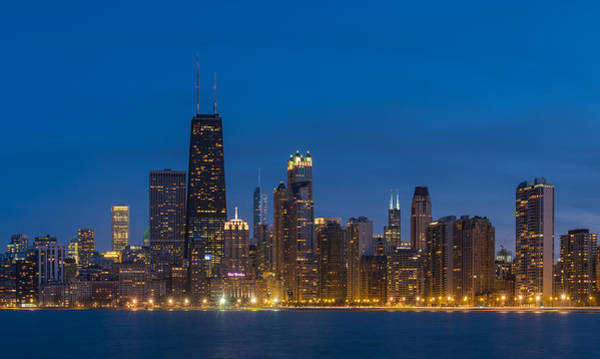 Wall Art - Photograph - Chicago Skyline From North Ave Beach by Steve Gadomski