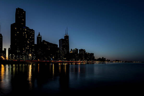 Photograph - Chicago Skyline From Olive Park  by Sven Brogren
