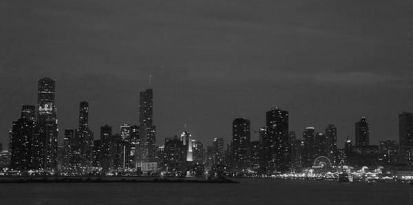 Wall Art - Photograph - Chicago Skyline In Black And White by Art Spectrum
