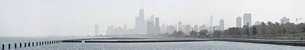 Photograph - Chicago Skyline In Fog by Robert Harshman