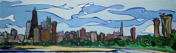 Painting - Chicago Skyline by John Gibbs