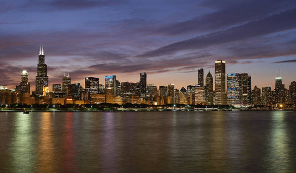 Wall Art - Photograph - Chicago Skyline July 2015 by Donald Schwartz