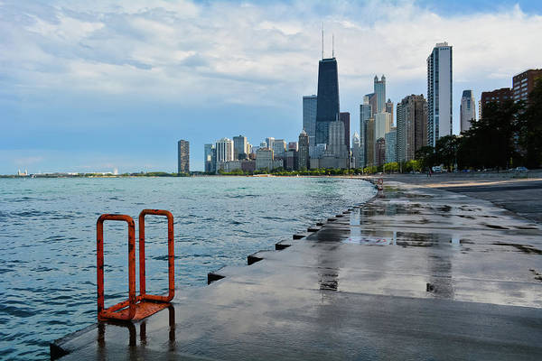Photograph - Chicago Skyline Lakefront Trail by Kyle Hanson