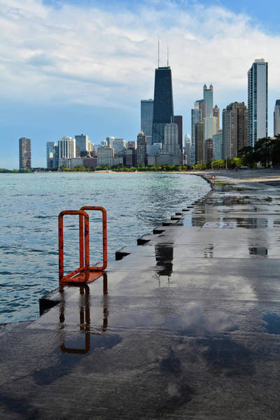 Photograph - Chicago Skyline Lakefront Trail Portrait by Kyle Hanson