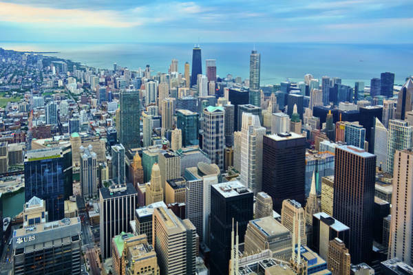 Photograph - Chicago Skyline Magic Hour by Kyle Hanson