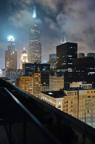 Photograph - Chicago Skyline Night by Kyle Hanson