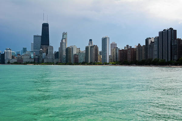 Photograph - Chicago Skyline North Avenue Beach by Kyle Hanson