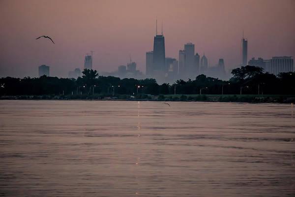 Photograph - Chicago Skyline On Hazy Summe Morning by Sven Brogren