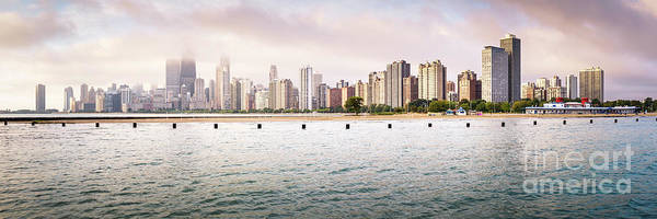 Wall Art - Photograph - Chicago Skyline Panorama At North Avenue Beach by Paul Velgos