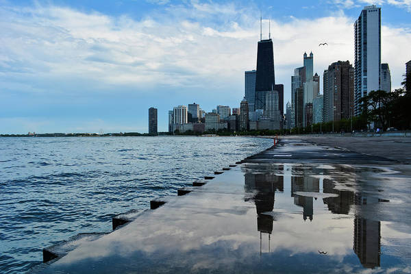 Photograph - Chicago Skyline Reflections by Kyle Hanson