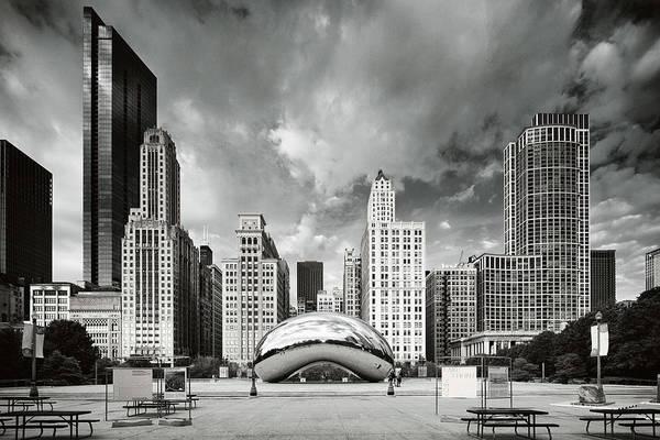 Photograph - Chicago Skyline The Bean  by Emmanuel Panagiotakis