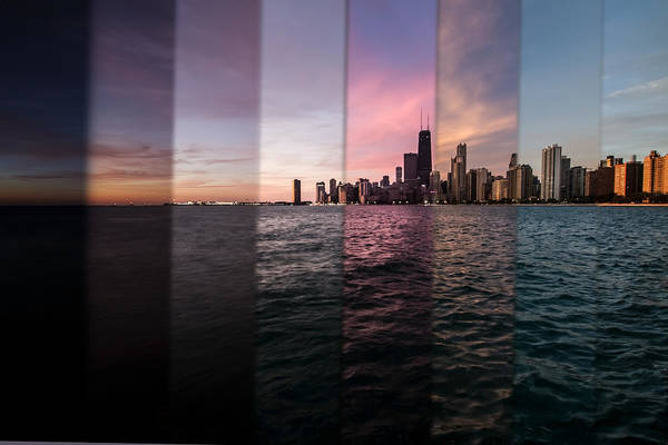 Photograph - Chicago Skyline Time Slice  by Sven Brogren