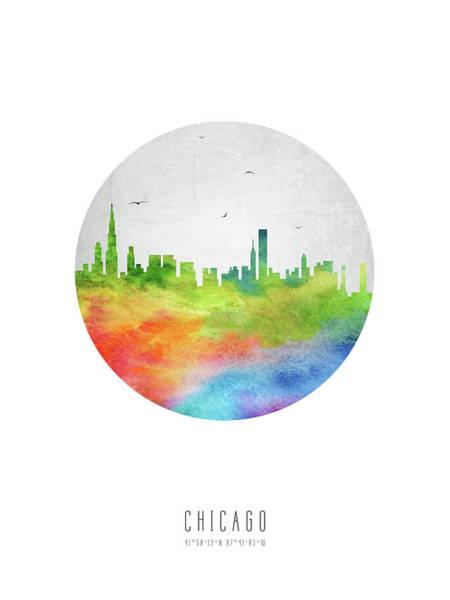 Chicago Art Digital Art - Chicago Skyline Usilch20 by Aged Pixel