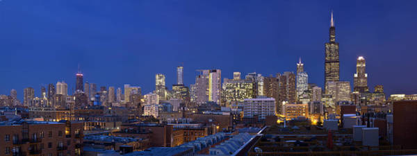 Chicago Skyline West Side Art Print