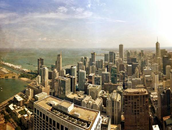 Photograph - Chicago Skyline With Navy Pier by Michelle Calkins
