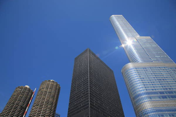 Photograph - Chicago Skyscrapers  4 by Frank Romeo