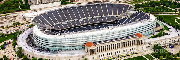 Wall Art - Photograph - Chicago Soldier Field Aerial Photo by Paul Velgos